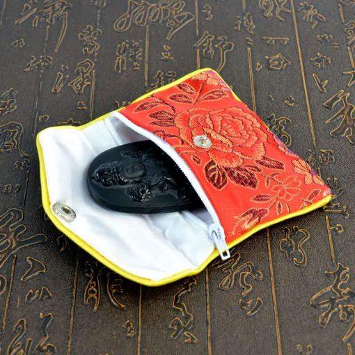 Chinese style Jewelry bag satin jacquard bag 14*12 cm