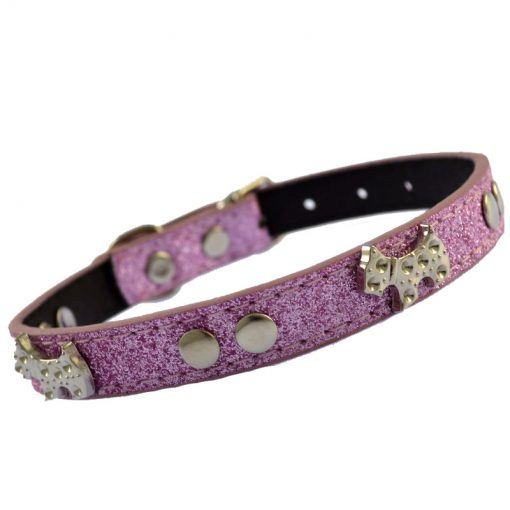 Smaller pet dog belt, 15*0.6 inch Multi-color optional bling bling