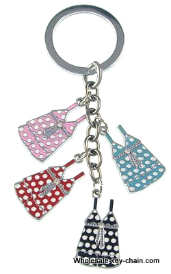 Popular key chain, multi-color and multi-variety 10 PCS /bag