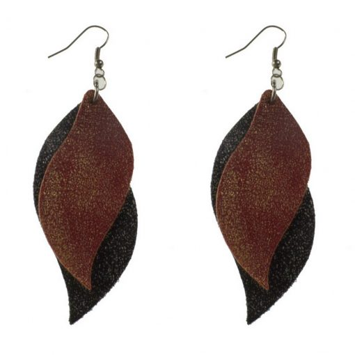 S-shaped Imitation of sheepskin leather earrings  ,Lightweight and comfortable Stainless steel earring hook 6.5 * 3 cm