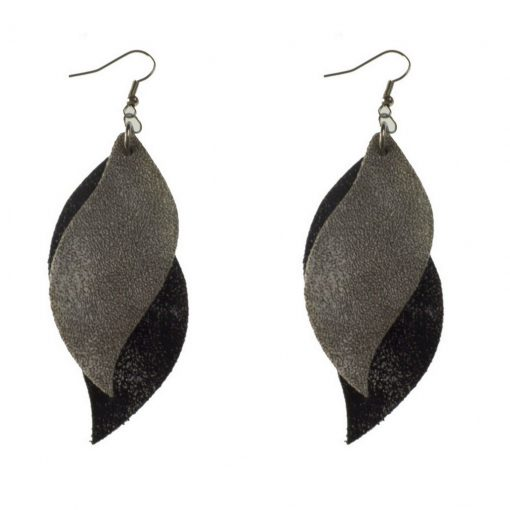 S-shaped Imitation of sheepskin leather earrings  ,Lightweight and comfortable Stainless steel earring hook 6 * 3 cm