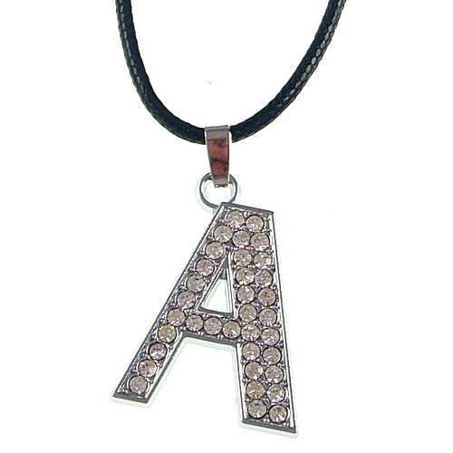 30 mm pendant letters A to Z are optional 5 PCS / bag Have a necklace