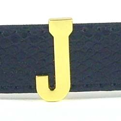 18 mm gold glossy letter for 18 mm leather belt and steel belt