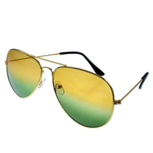 Larger children's sunglasses, adult sunglasses Yellow green color mixing