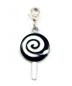 black  enamel pendant with bag pendant. Easy to use. Wide range of uses