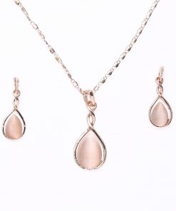 Fashion Jewelry Rhinestone Gemstone Necklace Earring Set Manufacturer Supply YHY-026
