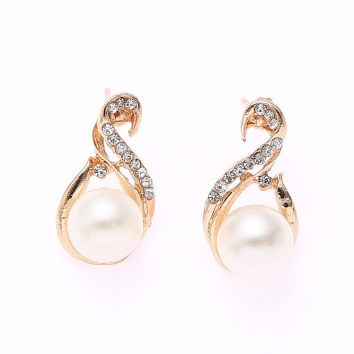 Explosion Pearl Necklace Earrings Two-piece Jewelry Set Korean Bride Set Wholesale YWHY-023