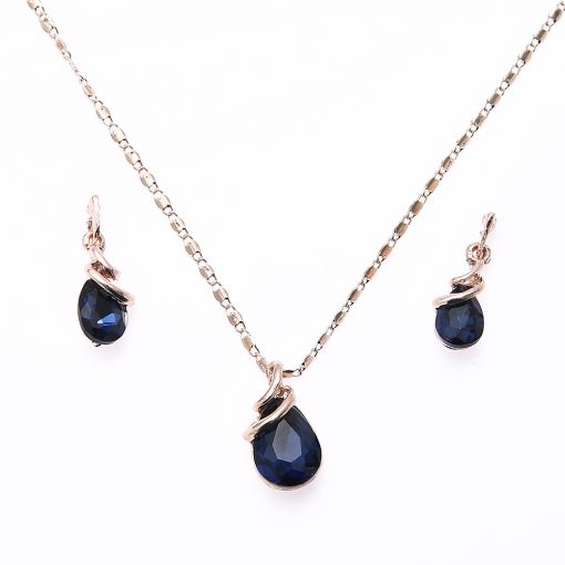 Boutique Jewelry 2 Piece Earring Necklace Droplet Geometric Necklace Set yhy-028