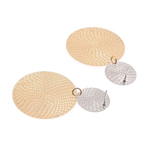 Fashion exaggerated pendant size round circle earrings female temperament personality color matching bump earrings ear jewelry YHY-065