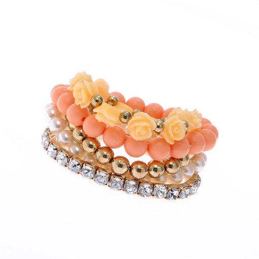Korean version of the sweet multi-layer rose elastic bracelet European and American jewelry YHY-071