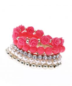 Korean version of the sweet multi-layer rose elastic bracelet European and American jewelry YHY-071