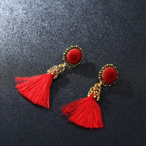 National style tassel earrings Korean version of the palace style retro tassel earrings   accessories YHY-050
