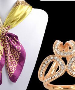 Exquisite three-dimensional silk scarf buckle ladies shawl buckle Full diamond accessories ethnic style fashion flower stewardess jewelry Inner diameter  YWHY-009