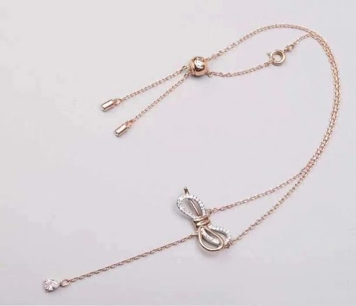 Hot bow necklace necklace high version sweater chain tassel drop necklace jewelry accessories wholesale YWHY-013