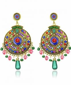 Bohemian style earrings long pendant earrings retro colorful style earrings YHY-036