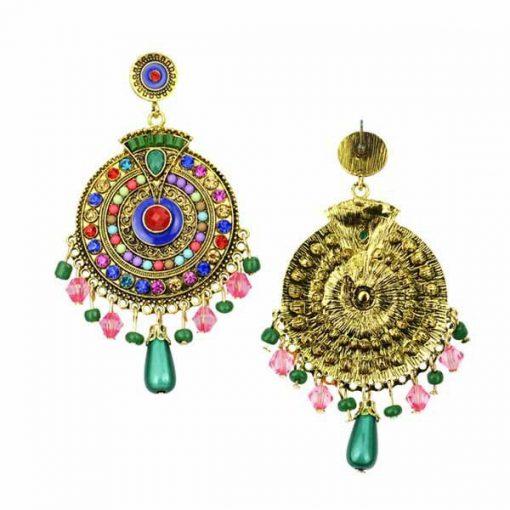 Bohemian style earrings long pendant earrings retro colorful style earrings YHY-036