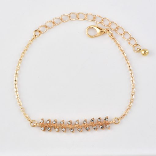 New style European and American fashion jewelry new leaves bracelet bracelet Women's four-piece combination wholesale YWHY-007