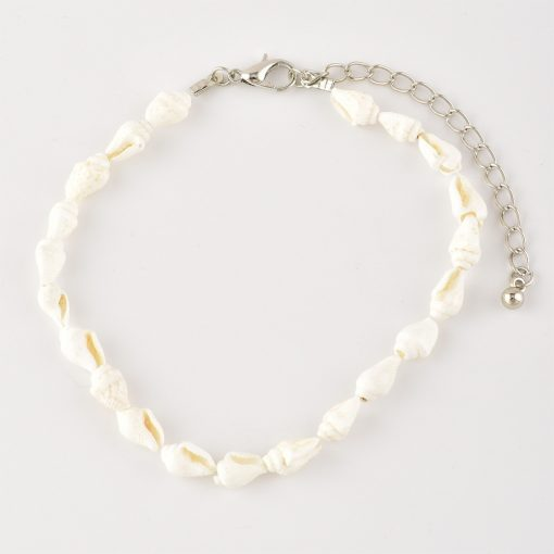 Fashion personality new women's shell anklet beach accessories multi-layer leather double-layer anklet YHY-091