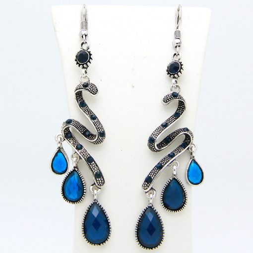 Big-name hot sale Bohemian Peacock Colorful Dotted Earrings Alloy Earrings Wholesale yhy-055