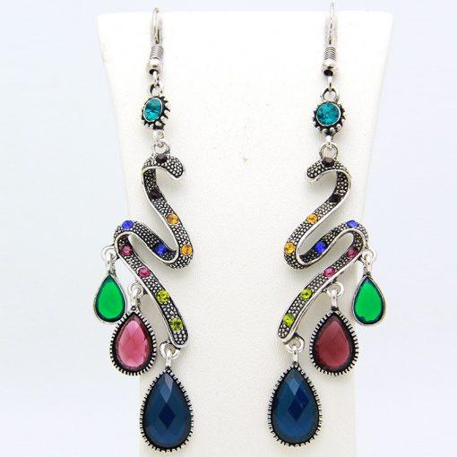 Big-name hot sale Bohemian Peacock Colorful Dotted Earrings Alloy Earrings Wholesale yhy-055