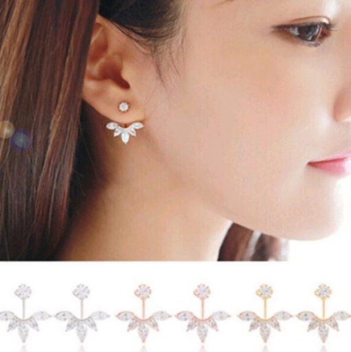 Explosion models daisy earrings temperament wild artificial crystal earrings accessories steel needle hypoallergenic YHY-061