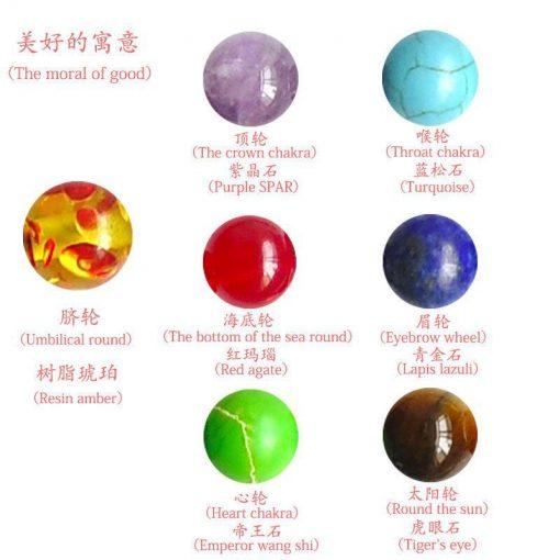 Best selling bracelet seven chakras woven bracelets balance beads yoga bracelet yhy-077