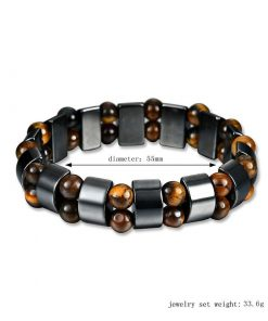 Hot natural black bile magnet bracelet men and women retro magnetic bracelet jewelry YHY-083
