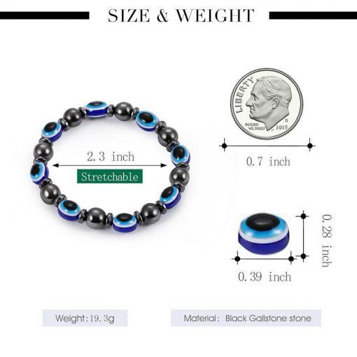 Magnetic black bile magnet elastic bracelet resin eye flat beads hand jewelry wholesale YHY-086