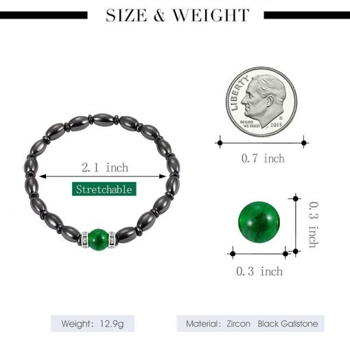 Magnetic black bile magnet bracelet Green cat eye bracelet  factory direct yhy-081