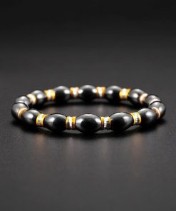 Hot Selling Black Magnet Bracelet Alloy Bracelet YHY-098