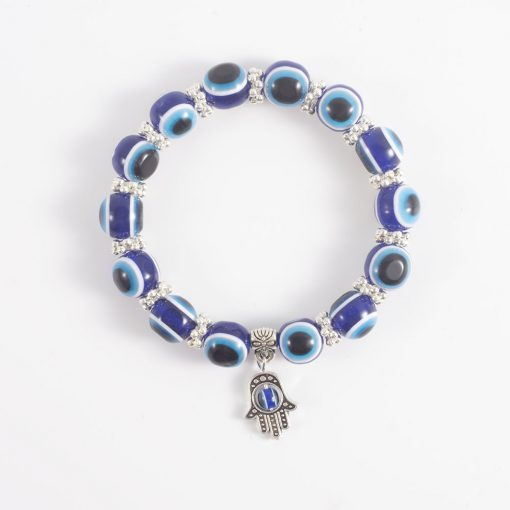 Hot vintage blue eyes beads Fatima hand lucky bracelet yhy-082