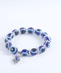 Hot vintage blue eyes beads Fatima hand lucky bracelet yhy-082