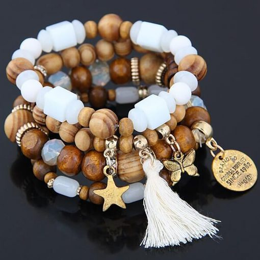 Big jewelry bracelet wholesale Europe and America trend simple tassel stars butterfly wild multi-layer bracelet yhy-073