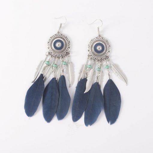 Middle Eastern ethnic feather feather tassel earrings Bohemian beach style sunflower flower earrings small jewelry yhy-041
