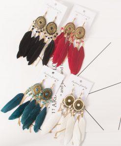 Bohemian national style long tassel earrings manufacturer jewelry wholesale YHY-040
