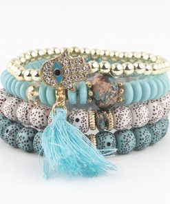New handmade beaded bodhi tassel palm bracelet multi-layer bracelet YHY-084
