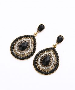 Explosion earrings Europe and the United States original single ear drop bohemian water drops earrings rice beads wholesale YHY-047