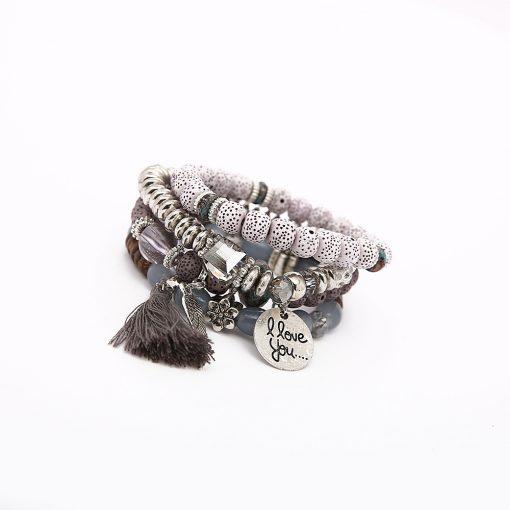 European and American big bohemian national wind wings tassel multi-layer bracelet New Bodhi bracelet YWHY-020