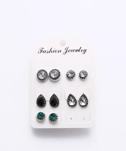hot earrings set retro crystal bohemian earrings YHU-054