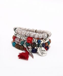 European and American big bohemian national wind wings tassel multi-layer bracelet New Bodhi bracelet YWHY-020