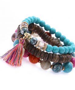 Best selling multi-layer bracelet National wind hand-woven elephant pine stone beaded bracelet YHY-078