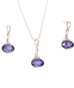 Hot water drops geometric earrings necklace set Bride set wholesale factory direct YHU-033