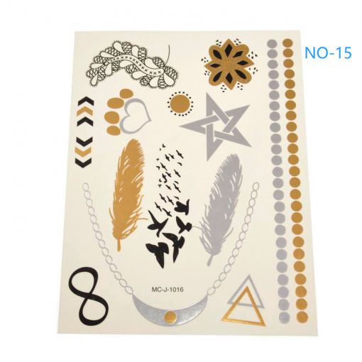 Summer tattoo stickers, mobile phone stickers, convenient, simple, easy to clean. 1 piece