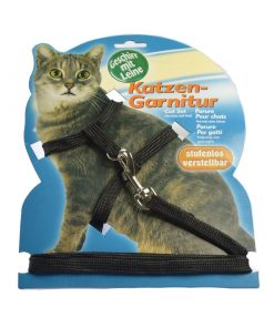 Pet cats Dog braided leashes with adjustable collar size. Collar 18″ + traction belt 53″
