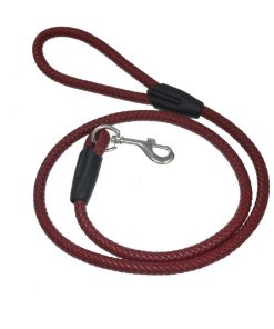 Pet leash, cylindrical braided belt Length: 47 inches, diameter 12 mm