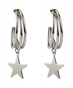 Sterling silver needle star earrings wild five-pointed star earrings new net red earrings original YLX-003