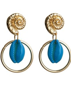New shell earrings female big circle bohemian conch earrings round earrings YLX-007