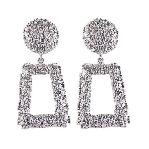 Fashion geometric metal creative big earrings Personality creative hot earrings jewelry YLX-01