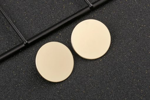 Europe and the United States popular simple and generous fashion personality women's glossy round disc earrings YLX-091