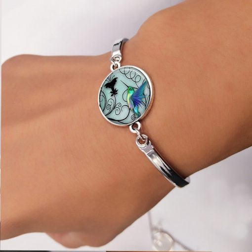 Hummingbird Time Gemstone Series Set Stud Earrings Bracelet Necklace Keychain YFT-101